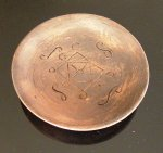 Фото Чашка глиняная с блюдцем и ложечкой (100 мл)