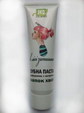 Фото Паста зубная натуральная с экстрактом лапок хвои ( 1 уп.)