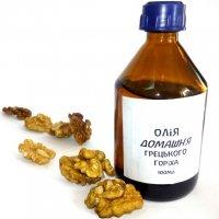 Масло грецкого ореха холодного отжима домашнее (100 мл)