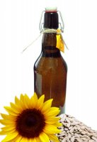 Масло подсолнечника холодного отжима домашнее (500 мл)