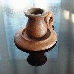 Подсвечник глиняный маленький