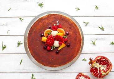 """Фото Кешьюкейк """"Ванильно-шоколадный"""" (торт для сыроедения), 1.2кг"""